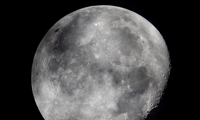 A view of the lunar surface is pictured in this file photo. The federal government says it has signed an agreement with the United States to send a Canadian astronaut around the moon. (The Canadian Press)