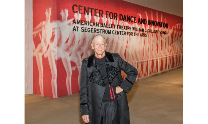 Orange County philanthropist William J. Gillespie, who passed away at 79, stands in front of the ballet school named after him at the Segerstrom Center of the Arts in Costa Mesa, Calif. (Courtesy of the Segerstrom Center of the Arts)