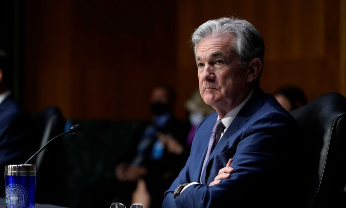Federal Reserve Chair Jerome Powell listens during a Senate Banking Committee hearing on Capitol Hill in Washington, D.C., on Dec. 1, 2020. (Susan Walsh/Pool/AFP via Getty Images)