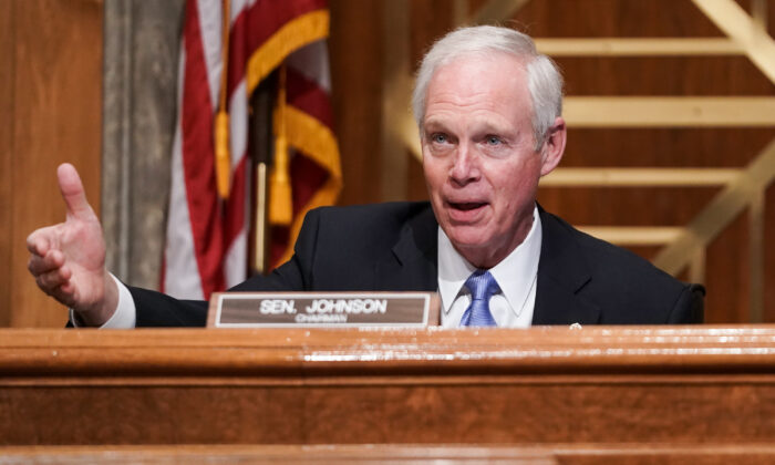 Senate Homeland Security and Governmental Affairs Committee Chairman Ron Johnson (R-Wis.) speaks during a hearing to discuss allegations of election fraud on Dec. 16, 2020. (Greg Nash-Pool/Getty Images)