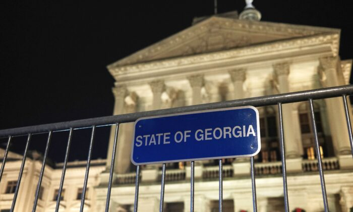 The Georgia State Capital building is seen in Atlanta, Ga., on Dec. 6, 2020. (Spencer Platt/Getty Images)