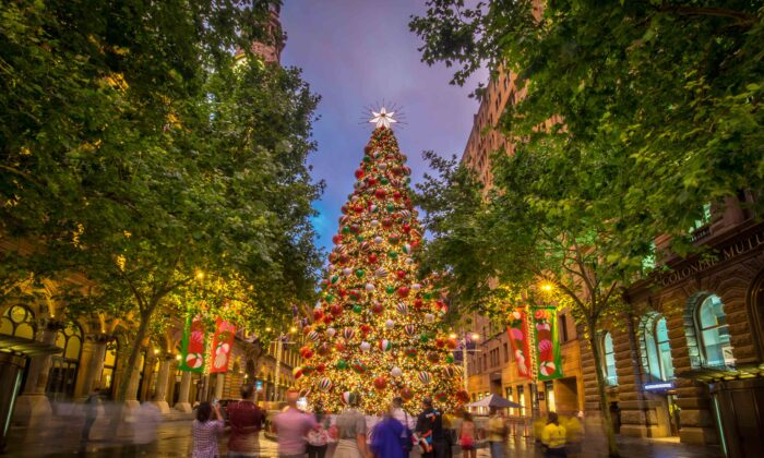 Sydney Christmas Tree on Nov. 22, 2018 at Martin Place, Sydney. (Katherine Griffiths)