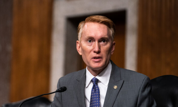 Sen. James Lankford (R-Okla.) speaks in Washington in a Sept. 16, 2020, file photograph. (Anna Moneymaker/Pool/Getty Images)