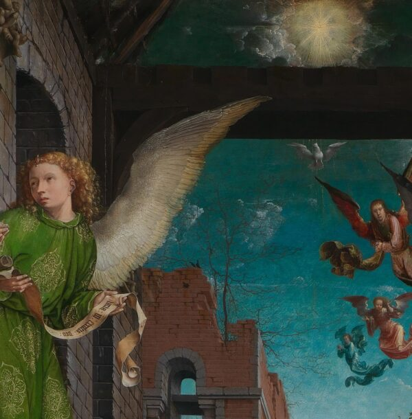 Jan_Gossaert_angel with scroll and star