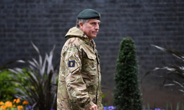 Chief of the Defence Staff, General Sir Nick Carter visits Number 10 Downing Street in London on March 5, 2020. (Peter Summers/Getty Images)