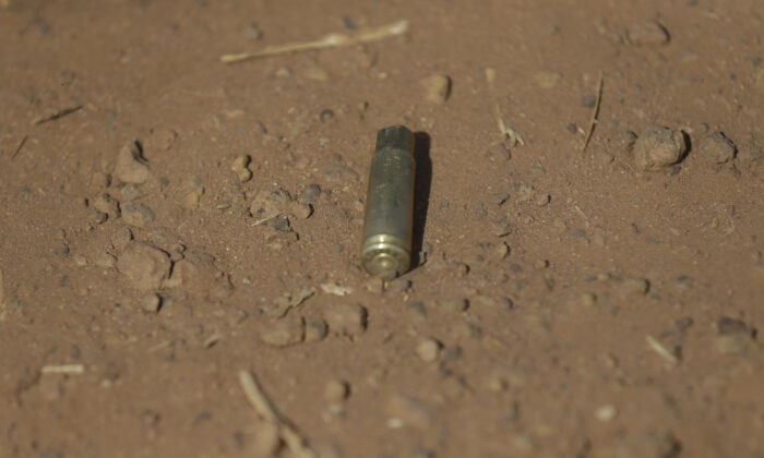 A bullet shell is seen outside of the Government Science Secondary School in Kankara, Nigeria, on Dec. 16, 2020. (Sunday Alamba/AP Photo)