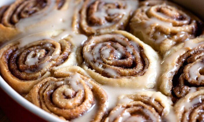 Andrew's signature cinnamon rolls, tweaked to perfection, have a tender, buttery dough packed with cinnamon and brown sugar and topped with maple icing. (Matt Genders Photography)