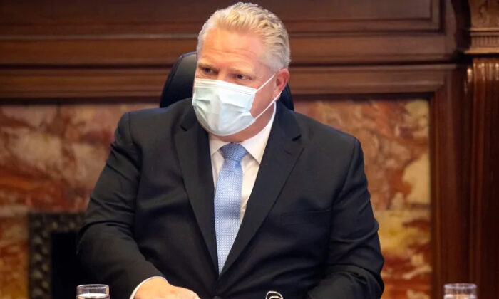 Ontario Premier Doug Ford has been facing increasing pressure to tighten COVID-19 restrictions in some regions of southern Ontario as case counts and hospital admissions climb. (The Canadian Press/Chris Young)