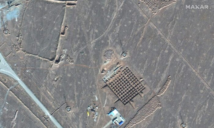This Dec. 11, 2020, satellite photo by Maxar Technologies shows construction at Iran's Fordo nuclear facility. (Maxar Technologies via AP)