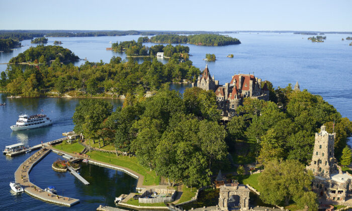Boldt Castle, once the home of George Boldt, now attracts visitors to the Thousand Islands region of upstate New York. (Courtesy of the Harbor Hotel Collection)