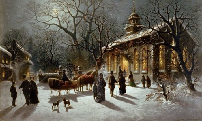 """New Year's has long been a time for reflection and renewal. """"New Year's Eve,"""" circa 1876, by Charles Henry Granger. (Public Domain)"""