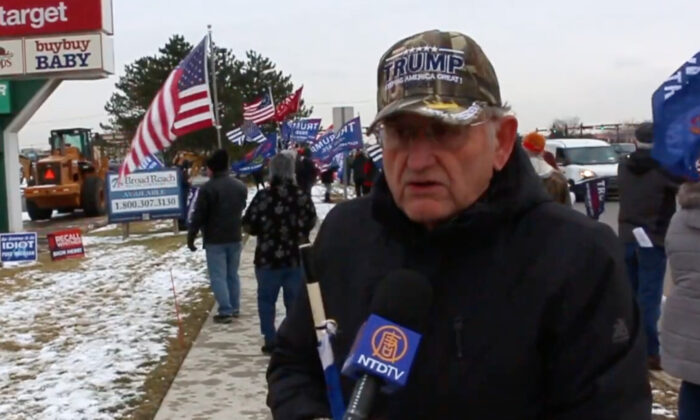 Mark Forton, Chairman of the Macomb County Republican Party, at a Trump Caravan Rally in Michigan on Dec. 18, 2020. (NTD Television)