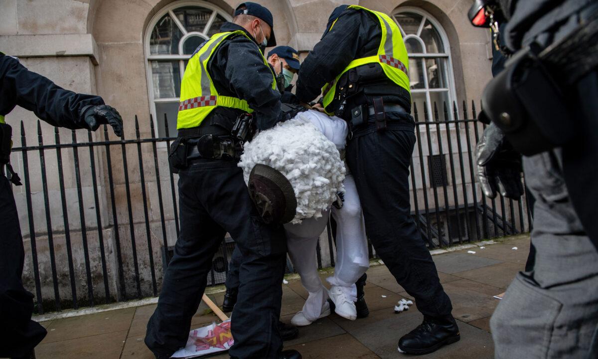 Anti-lockdown Protest London