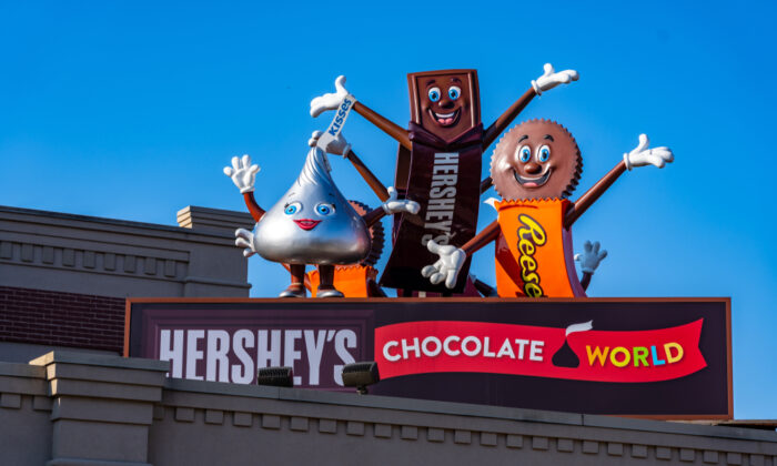 Hershey candy characters welcome visitors. (George Sheldon/Shutterstock)