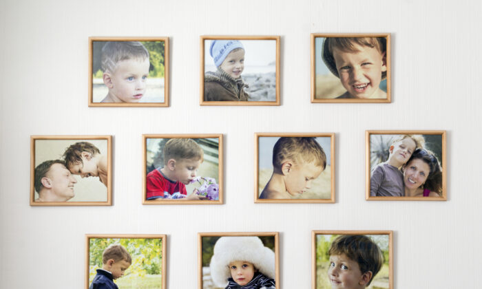 Framed family photos add a familiar, homey touch. (ForGaby/Shutterstock)