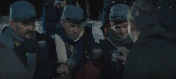 soldiers toast the season