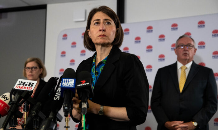 NSW Premier Gladys Berejiklian at a press conference on in Sydney, Australia Dec. 18, 2020. (Janie Barrett - Pool/Getty Images)