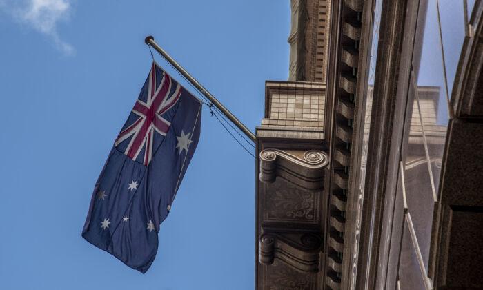 Former Australian Deputy Prime Minster For Nearly 10 Years, Doug Anthony passes. Australia flag in Martin Place in Sydney, Australia on Nov. 11, 2020. (Jenny Evans/Getty Images)