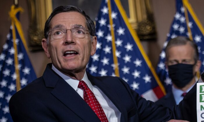 Sen. John Barrasso (R-Wyo.) in Washington on Dec. 1, 2020. (Bill O'Leary-Pool/Getty Images)