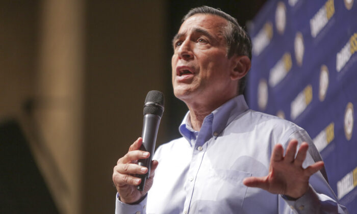 Rep. Darrell Issa (R-Calif.) speaks in San Juan Capistrano, Calif., in a June 3, 2017, file photograph. (Bill Wechter/AFP via Getty Images)