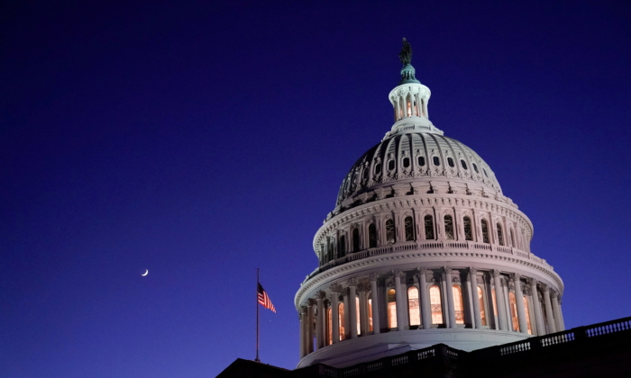 The U.S. Capitol dome is seen at night in Washington on Dec. 17, 2020. (Erin Scott/Reuters)