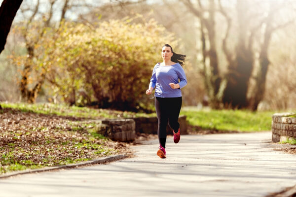 lady jogging outdoors