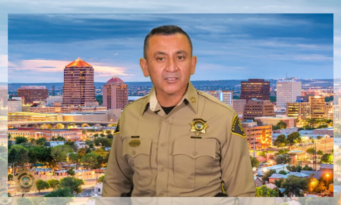 Bernalillo County Sheriff Manny Gonzales in a screenshot photo. (Bernalillo County Sheriff's Office)