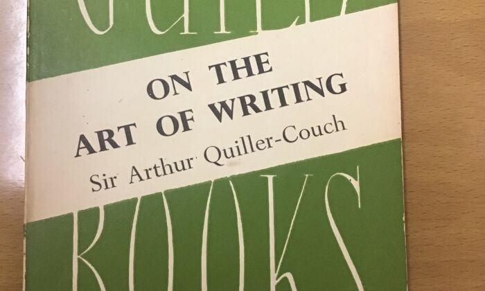 """My fortuitous thrift-shop find: A pre-loved paperback of """"On the Art of Writing"""" by Sir Arthur Quiller-Couch. (Lorraine Ferrier/The Epoch Times)"""
