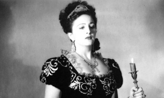 """Soprano Zinka Milanov in """"Tosca."""" (Public Domain)"""