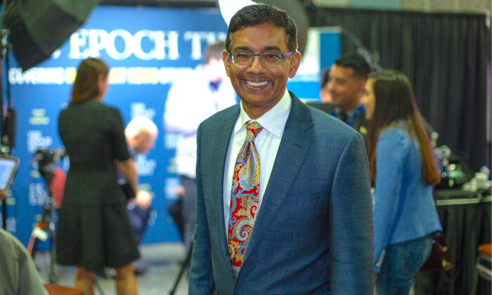 Dinesh D'Souza, conservative political commentator and film director, in West Palm Beach, Fla., on Dec. 20, 2019. (Brendon Fallon/The Epoch Times)