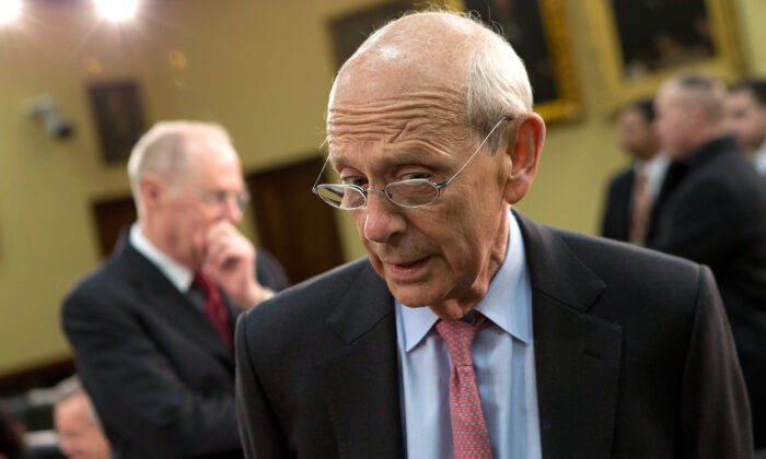 Supreme Court Justice Stephen Breyer awaits the start of a hearing on Capitol Hill, in Washington, on March 14, 2013. (Win McNamee/Getty Images)