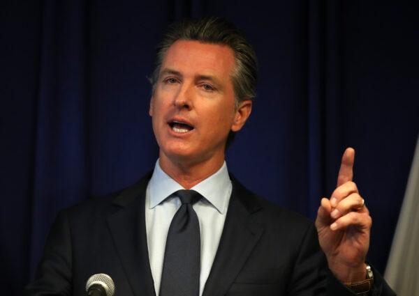 California Gov. Gavin Newsom speaks