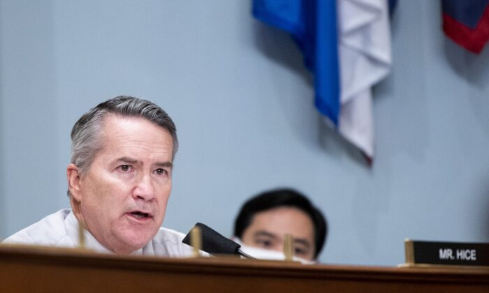 Rep. Jody Hice (R-Ga.) speaks in Washington on July 28, 2020. (Bill Clark/Pool/Getty Images)