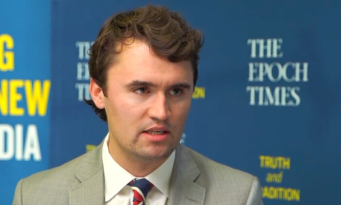 Charlie Kirk speaks to NTD at Turning Point USA Student Action Summit in West Palm Beach, on Dec. 21, 2020. (Screenshot/NTD)