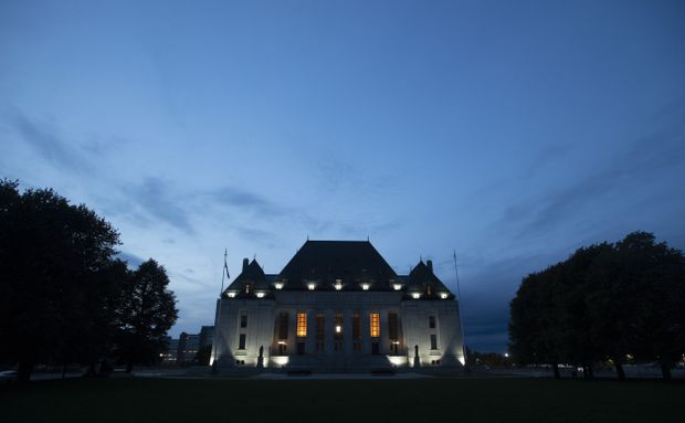 The Supreme Court of Canada is seen at sunset in Ottawa on Sept. 1, 2020. (The Canadian Press/Adrian Wyld)