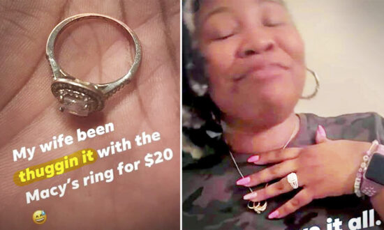 Husband Replaces $20 Wedding Ring From Macy's With Ring of Her Dreams 13 Years Later
