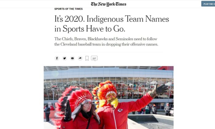 Screenshot of the Dec. 21, 2020 New York Times. (screenshot New York Times)