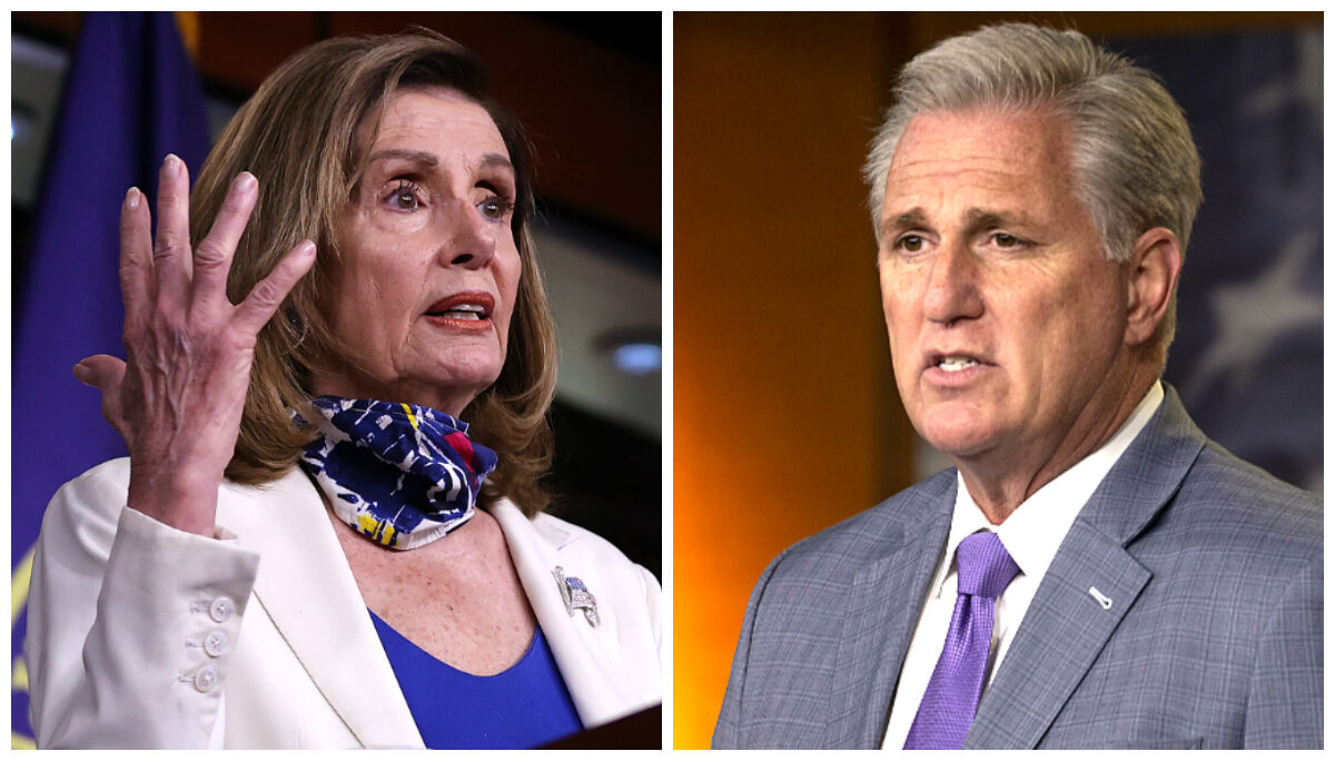 collage - Pelosi and McCarthy
