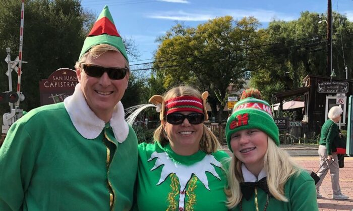 Dressing like elves and visiting several restaurants after Christmas has become a local tradition in San Juan Capistrano, Calif. This year, participants will order take-away meals instead. (Courtesy of the San Juan Capistrano Chamber of Commerce)