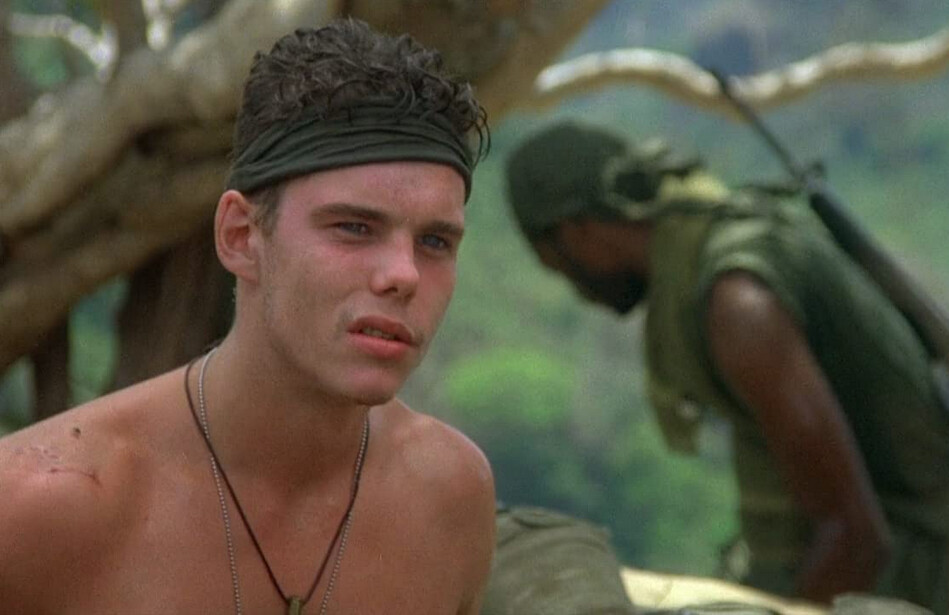 "Two soldiers with green bandanas in ""Platoon"""