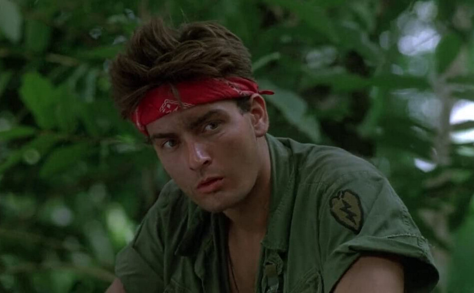 "soldier with red bandana in ""Platoon"""
