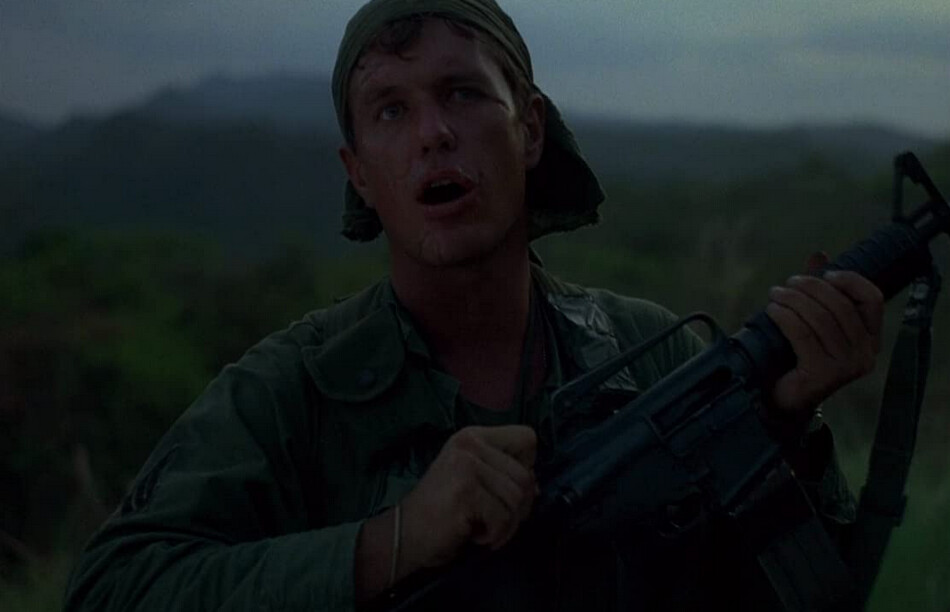 "Sergeant with M-16 rifle in ""Platoon"""