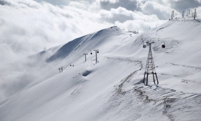 A general view shows the Tochal ski resort, in north of Tehran, Iran Dec.12, 2019. (Nazanin Tabatabaee/WANA (West Asia News Agency) via Reuters/File Photo)