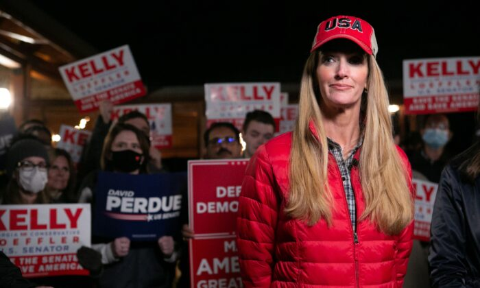 Sen. Kelly Loeffler (R-Ga.) at a rally in Cumming, Ga., on Dec. 20, 2020. (Jessica McGowan/Getty Images)