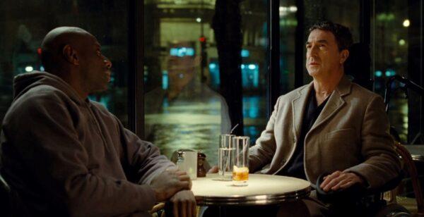 black man dining with white parapaligic