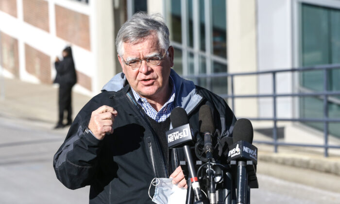 Nashville Mayor John Cooper speaks during a news conference on the Christmas day bombing in Nashville, Tenn., on Dec. 26, 2020. (Terry Wyatt/Getty Images)