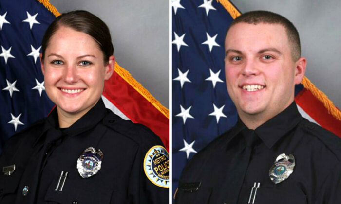 Nashville police officers Brenna Hosey (L) and Michael Sipos (R). (Courtesy of the Nashville Police Department)