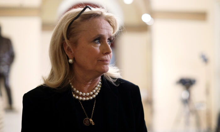 Rep. Debbie Dingell (D-Mich.) is seen in Washington on Dec. 19, 2019. (Alex Wong/Getty Images)