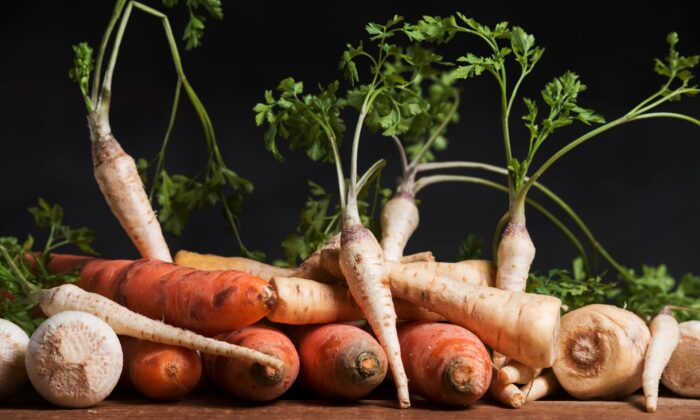 In this medley of winter root vegetables, each adds unique flavor and a boost of vitamins and minerals. (Djordje Novakov/Shutterstock)