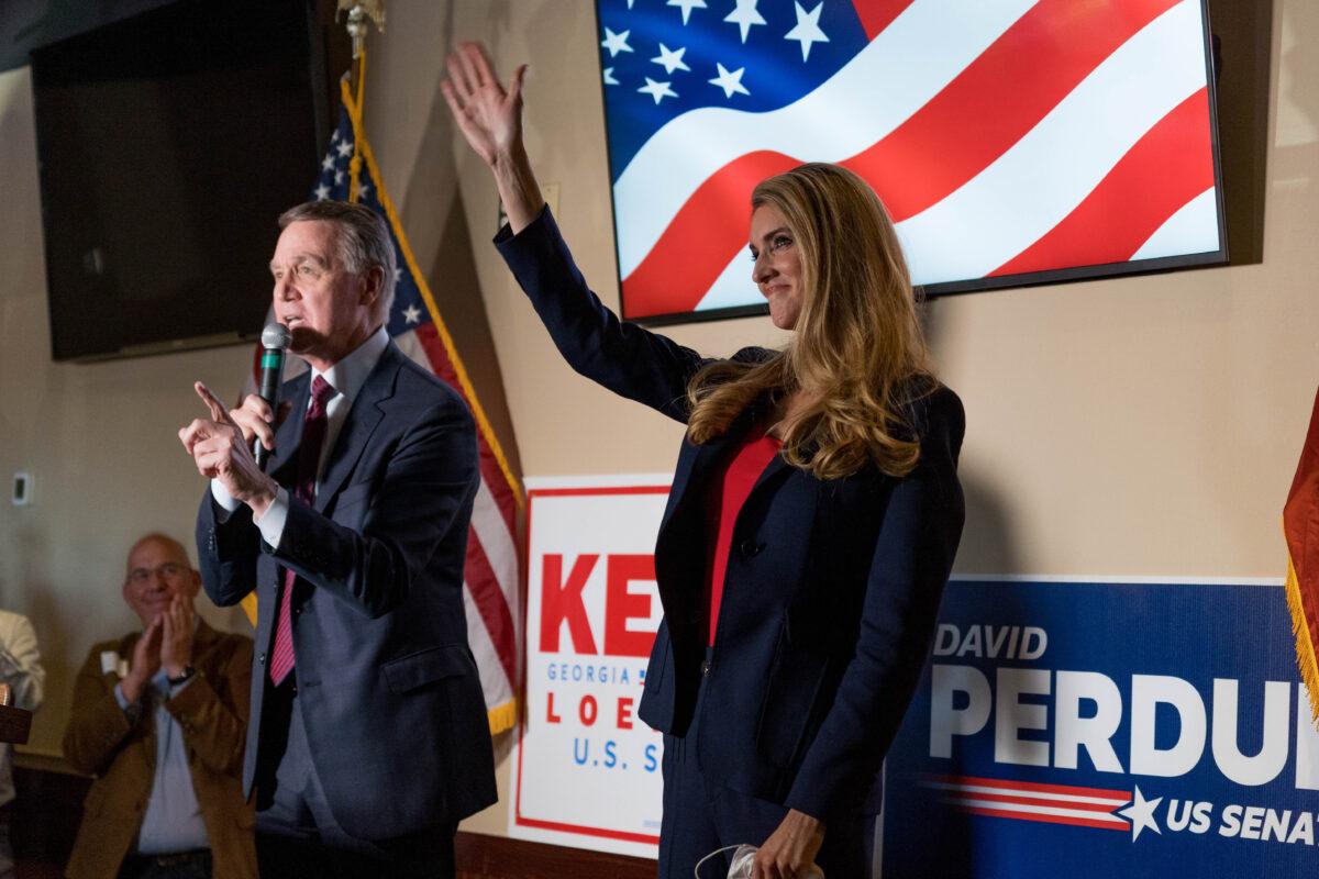U.S. Sen. David Perdue and Sen. Kelly Loeffler